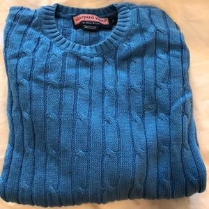 Vineyard Vines blue cable knit sweater. Size S